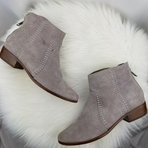 Joie Lucy Suede Taupe Ankle Studded Ankle Booties